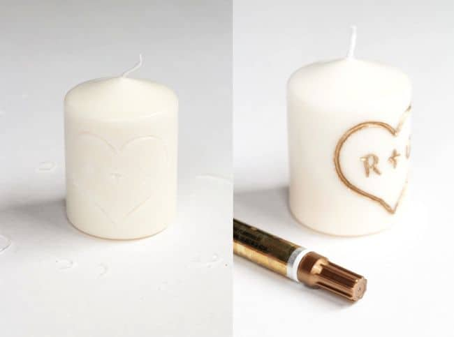 Initial Carved DIY Candle | HelloGlow.co