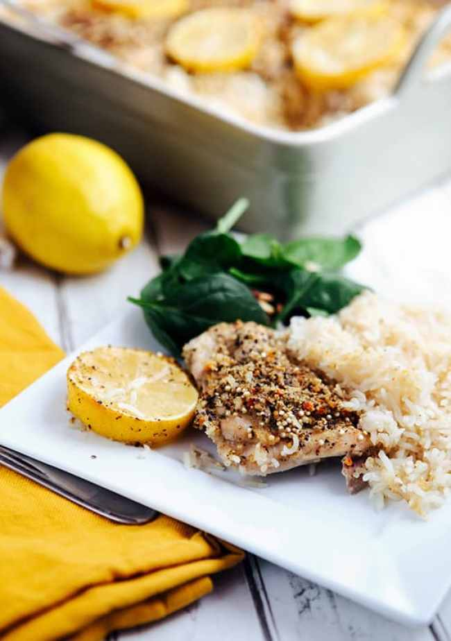 Easy meals: Lemon Pepper Chicken and Quinoa Rice Recipe | Hello Glow