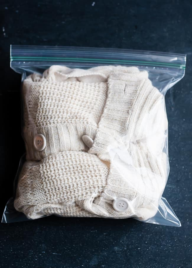 Sweater in freezer to prevent shedding | Hello Glow