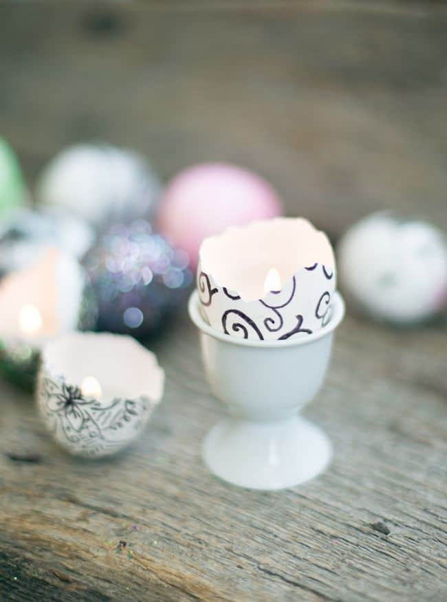 DIY Eggshell Candles | HelloGlow.co