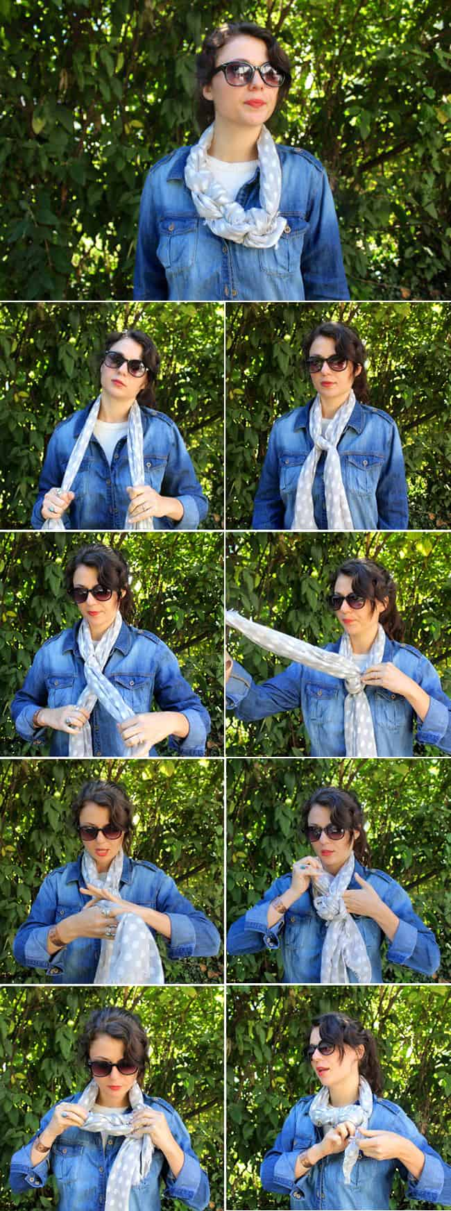 Braided Scarf | 13 stylish ways to tie a scarf | HelloGlow.co