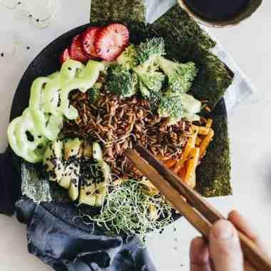 Inside + Out: Seaweed Sheet Mask + Deconstructed Sushi Bowl