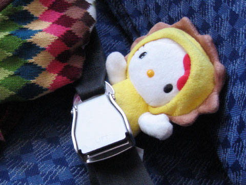 Hello Kitty Knows The Importance of Safety Belts