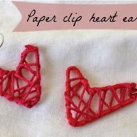 DIY Paper Clip Heart Earrings | HelloNatural.co