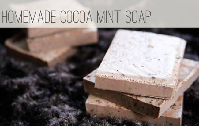Homemade Cocoa Mint Soap