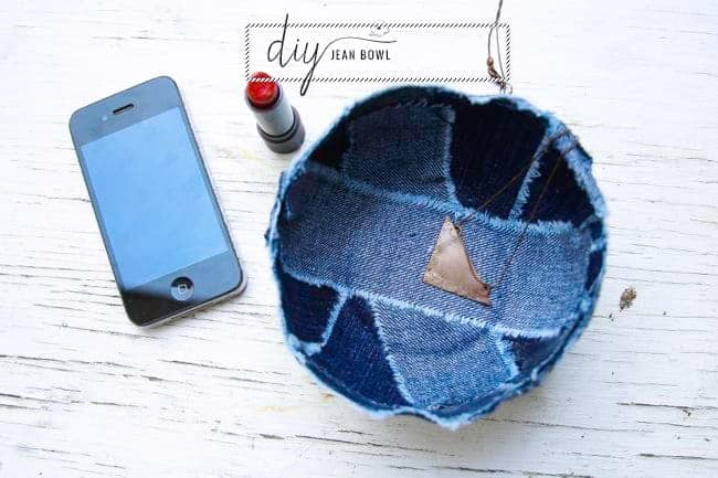 DIY Bowl with Recyled Jeans | HelloNatural.co