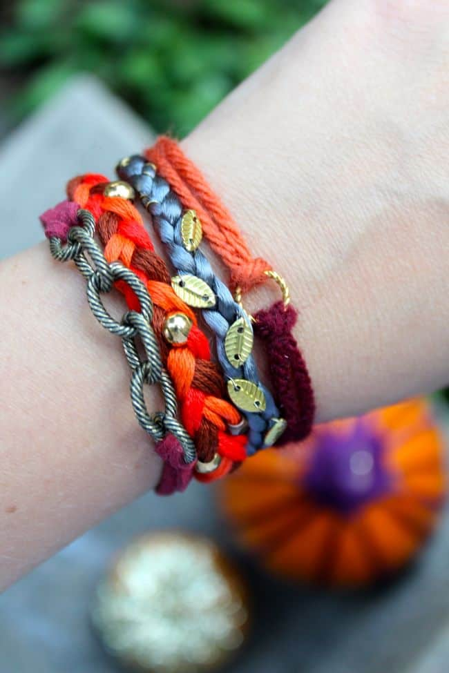 Pumpkin Spice Stack! Make 4 Fall Bracelets | HelloNatural.co