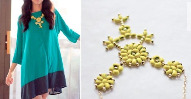 Neon Bean Necklace