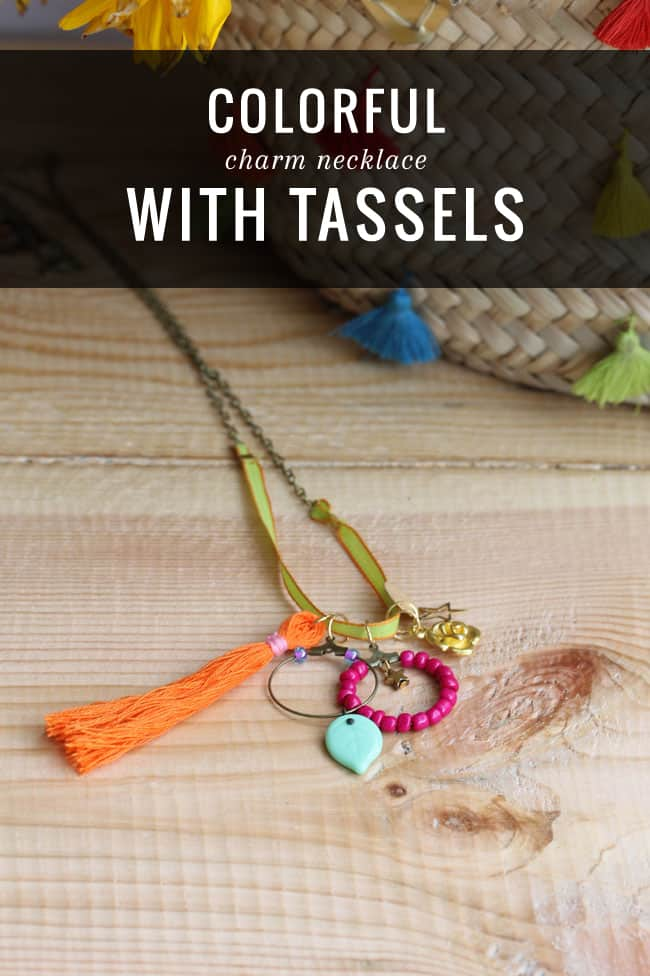 DIY Charm Necklace with Tassels | HelloNatural.co