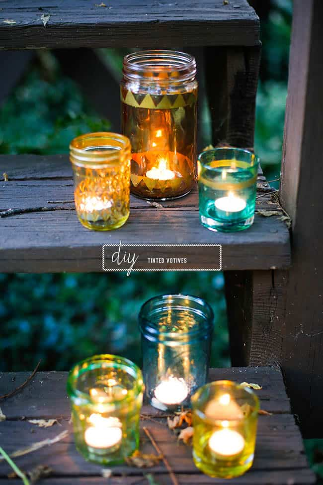 DIY tinted votives | Hello Natural