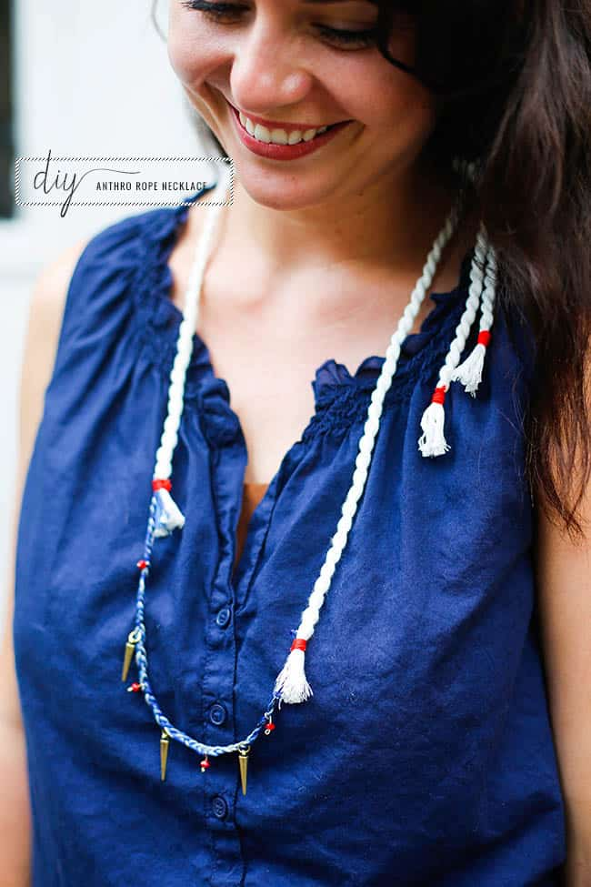 DIY Anthropologie Rope Necklace | Hello Natural