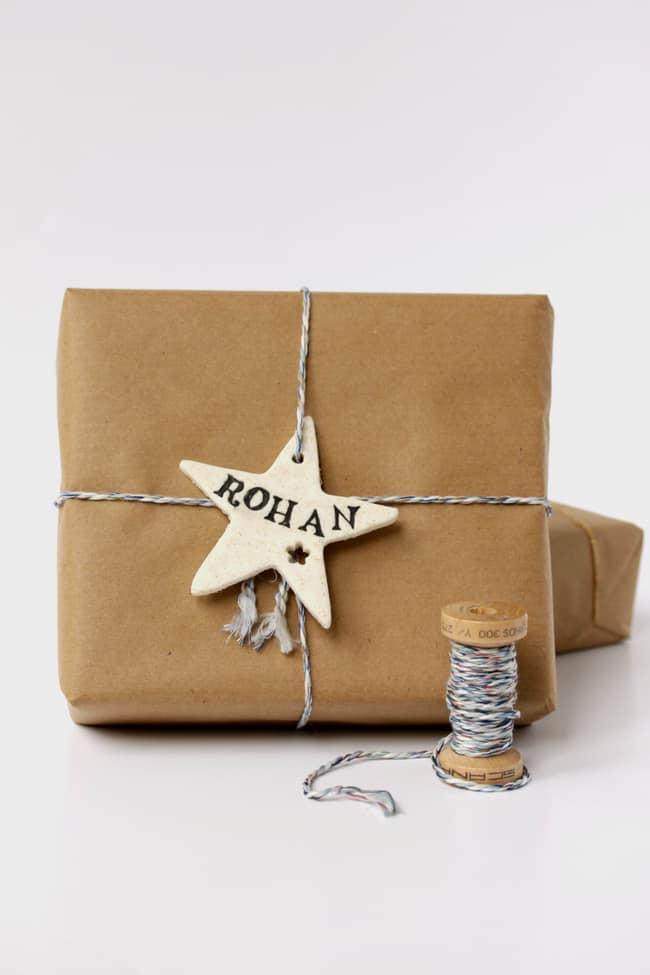 DIY: Cornstarch clay gift wrap   hellonatural.co