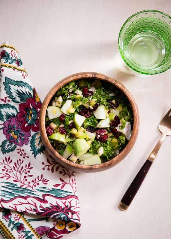 Leftover Turkey Kale Salad   HelloNatural.co