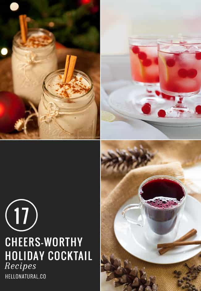 17 Holiday Cocktails   HelloNatural.co