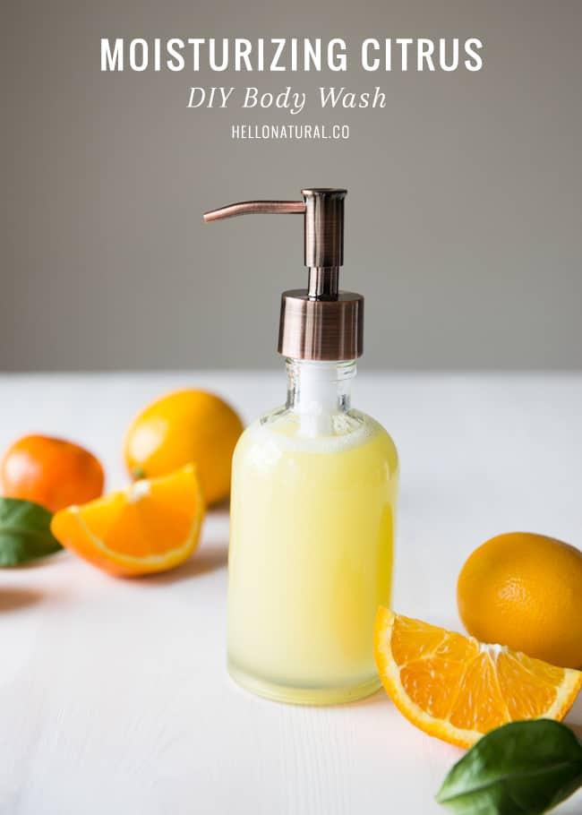Citrus Homemade Body Wash