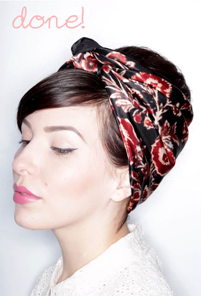13 chic ways to wear a scarf in your hair hellonatural co
