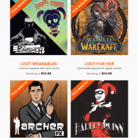 August 2016 Loot Wear Spoilers & Coupons - Level Up by Loot Crate