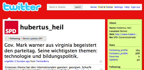 Twitter Hubertus Heil