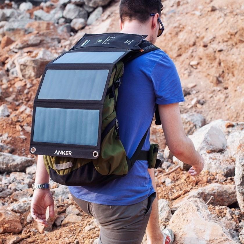 Anker PowerPort Solar 21W 2 Port USB: Rucksack