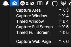 Pixave App: Menubar Screenshots