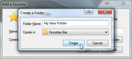 how to add folder to your favourties