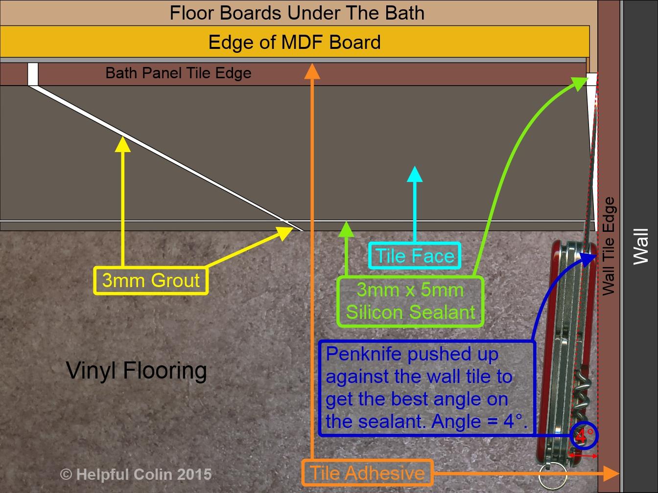 how to remove bathroom sealant tiled bath panel