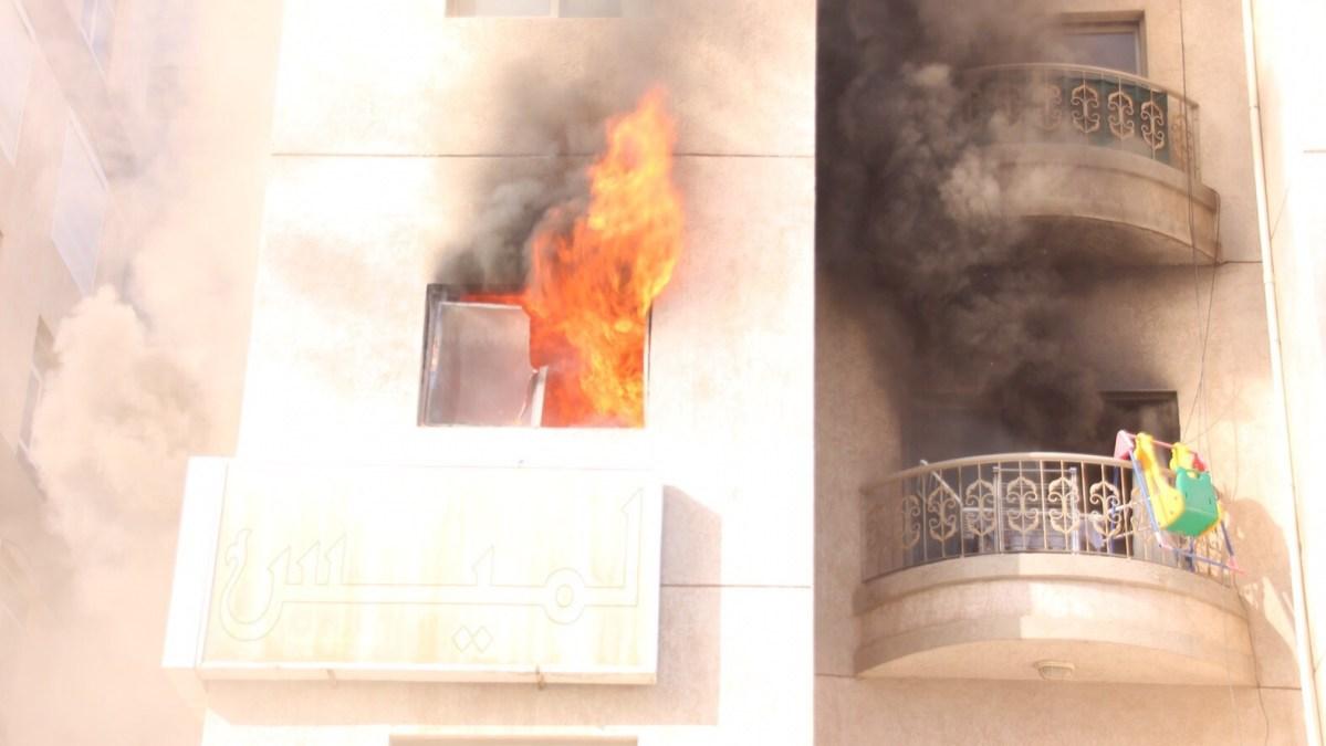 الحماية المدنية تسيطر على حريق نشب داخل شقة سكنية فى حلوان دون وقوع إصابات
