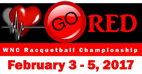 Go Red WNC Racquetball Championship February 3-5 (USAR Sanctioned)