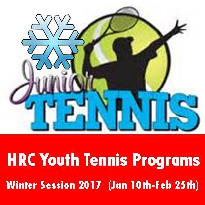 YOUTH TENNIS CLASSES START JANUARY 11TH FOR AGES 4-17
