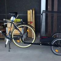 En cykelkärra för hunden