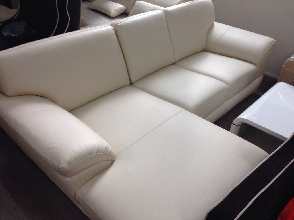 Leather 2 Seater L Shape Sofa. March 4, 2014. Sold. 20140304 124916