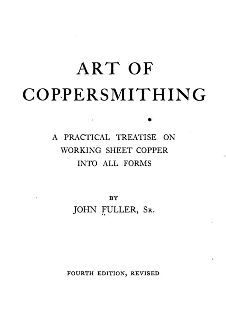 "Check out ""Art of coppersmithing"""