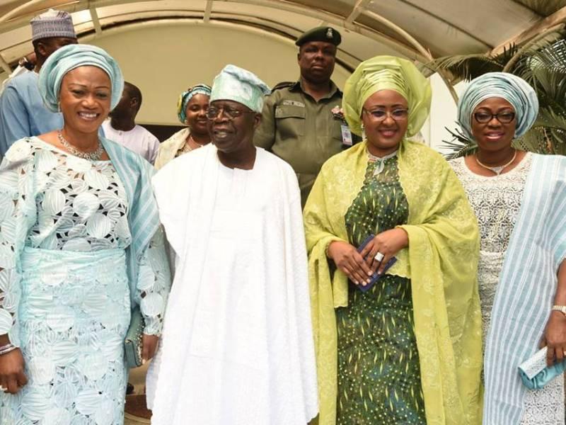 Aisha-Buhari-Gov-Ambode-Bola-Tinubu-And-Others-At-A-Wedding-Ceremony-In-Lagos-5