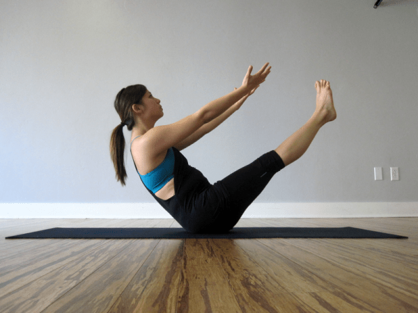 Boat Pose, or Navasana (extended)