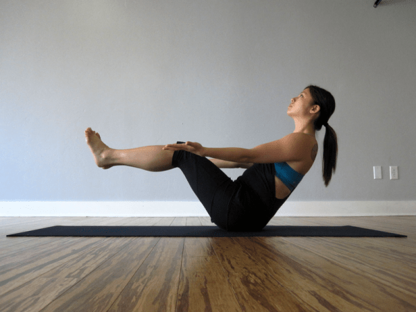 Boat Pose, or Navasana (modified)