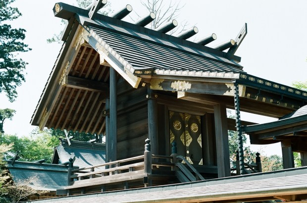 One of the smaller shrine buildings