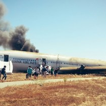 San Francisco Plane Crash, Twitter Pic @Eunner