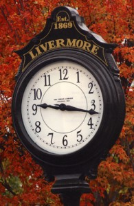 Livermore city clock