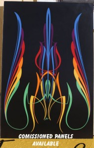 commissions Special Pinstriping & Sign Painting Projects by Herb Martinez, Livermore, CA. Serving the San Francisco Bay area.
