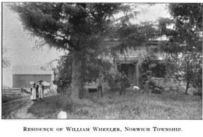 William Wheeler residence, Norwich Township, Huron County, Ohio, c1896. Perhaps those are the two oldest girls on the left?