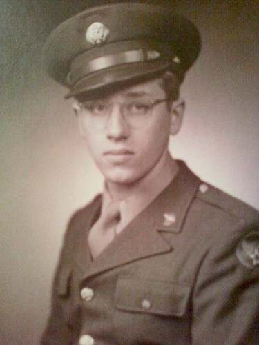 Edward A. McMurray, Jr., 1943, likely taken in boot camp at Ft. Leonard Wood in Missouri.