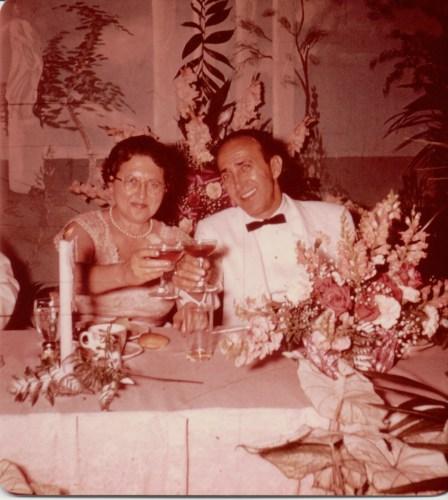 Possibly parents of Harold Rubikow: Loretta Cooper and Delmas Mayer Ribakow? Summer, 1959.