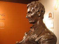MacNeil's Lincoln bust is beautifully restored on public display in the Spurlock Museum