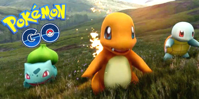 Pokemon GO trio inicial