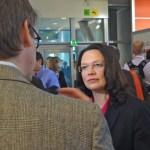Andrea Nahles (SPD-Generalsekretärin) im Interview