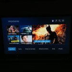 Auswahlmen der maxdome-App auf dem Sony Bravia