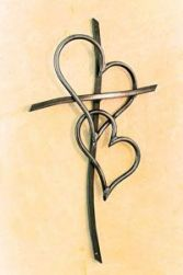 Cross with 2 Hearts Logo