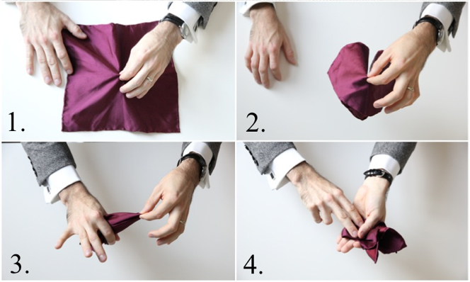 How To Fold a Pocket Square: Crown Fold - He Spoke Style