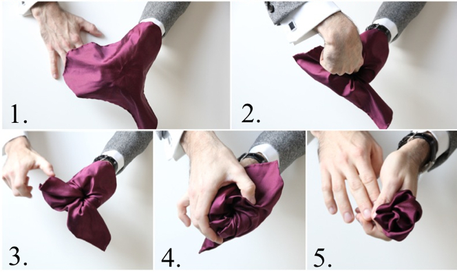 How To Fold a Pocket Square: Flower Fold - He Spoke Style