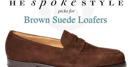 Picks for Brown Suede Loafers - He Spoke Style